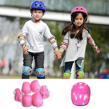 7PCS/SET Universal Children Kids Protective Gear Set Comfortable Scooter Skate Roller Cycling Knee Pads Elbow Pads Set triple 8 ep 55 elbow pads skate safety pads black jr xs