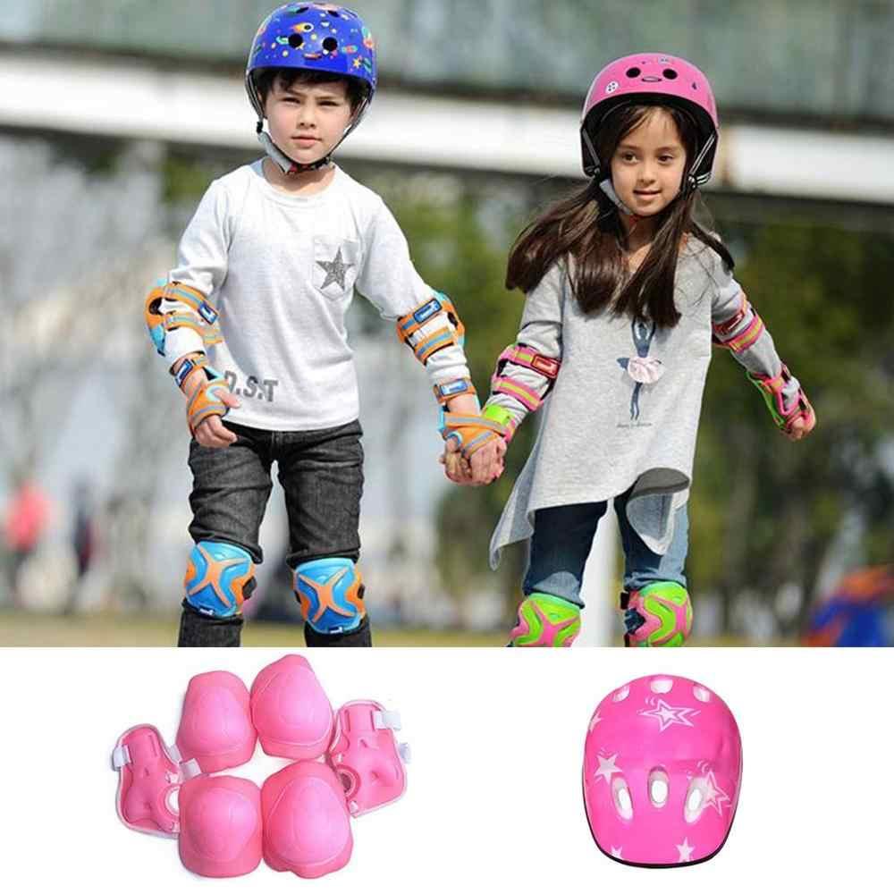 Skate Protection 7Pc Kit Set Helmet Knee Elbow Pads Wrist Brace Roller Guard Kid