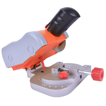 TOP Mini Electric Saw Cutting Machine High Speed Bench Cut-Off Saw Steel Blade for Cutting Metal Wood Plastic Adjustable Eu Plug
