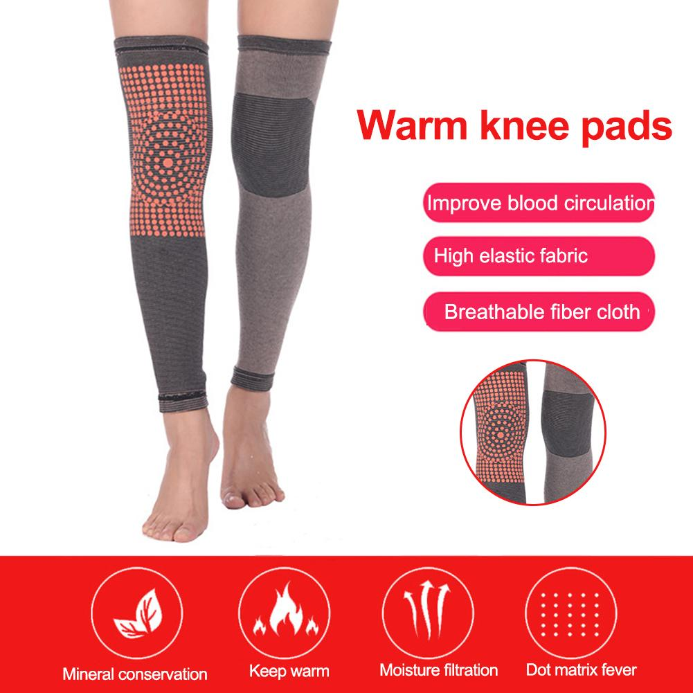 2PCS Unisex Self Heating Support Knee Pads Knee Brace Warm For Arthritis Joint Pain Relief And Injury Recovery Keep Warm Winter