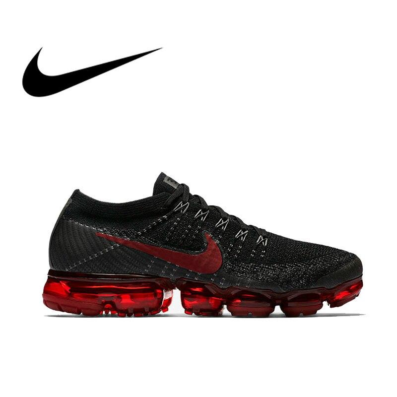 Authentique Nike Air VaporMax être vrai Flyknit hommes en cours d'exécution respirant chaussures de sport de plein Air confortable 849558-013