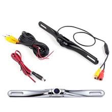 Car Rear View Camera HD Waterproof License Plate Frame Reversing Camera Metal Shell CCD Night Vision Parking Camera