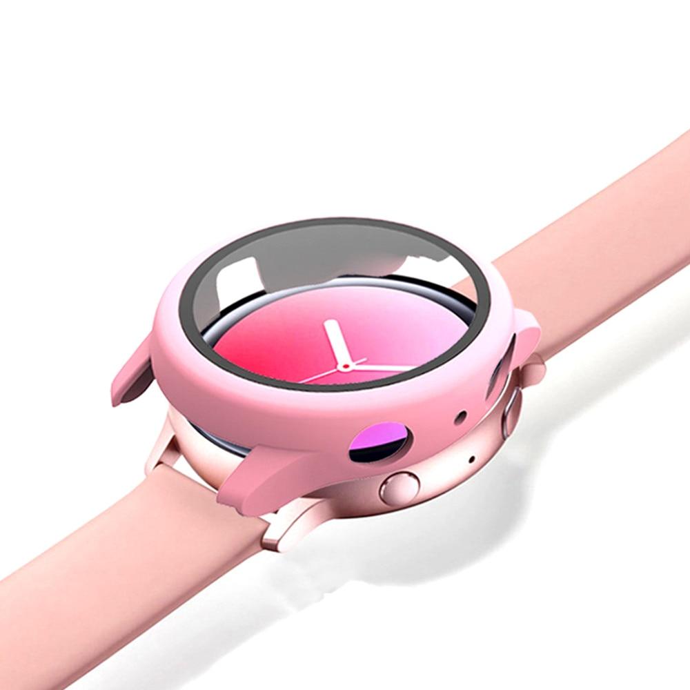 Стекло + чехол для Samsung Galaxy watch active 2 44/40 мм, всесторонний бампер + Защита экрана для Galaxy watch active 2 44 мм 40 мм