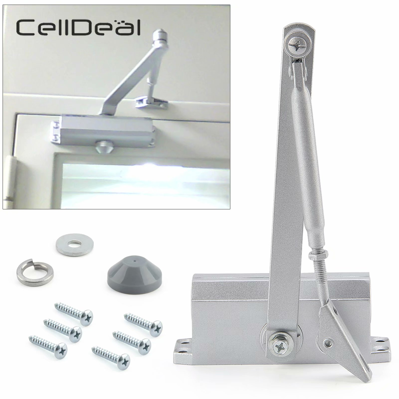Heavy Duty Style Overhead Door Automatic & Soft Door Closer Adjustable Mechanical Speed Control Door Locks Furniture Accessories