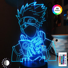 3d Night Light for Child Bedroom Decor Desk Lamp Japanese Anime Kakashi Hatake Icha Icha Paradaisu Figure Led Nightlight