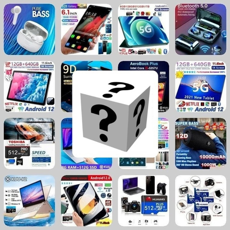 2021 New Lucky gift box Mystery Box Premium Electronic Product Lucky Mystery Box 100% Surprise Boutique 1 To 10 Pcs Random Item