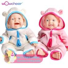 WOWCHEER 15 38cm Handmade Lifelike Vinyl Reborn Baby Dolls Toys lol Bonecas Girls Kid de Silicone Children Educational Toy