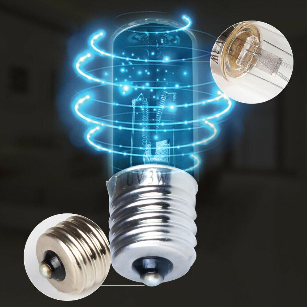 UV Bulbs E17 E14 Ultraviolet Germicide Bulb UVC 9W Low Power Household Sterilization Bulbs Mini UV Sterilized Quartz Bulb
