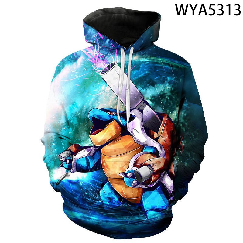New Fashion Casual Games Pokemon Men Women Children Hoodies 3D Printed Pullover Long Sleeve Sweatshirts Boy Girl Kids Cool Coat 2