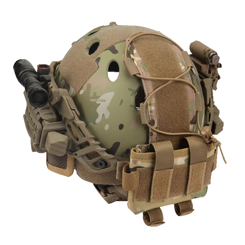 Tactical Helmet Battery Pouch MK2 Helmet Battery Pack Helmet Counterweight Pack Helmet Accessory For Airsoft Hunting Outdoor Spo