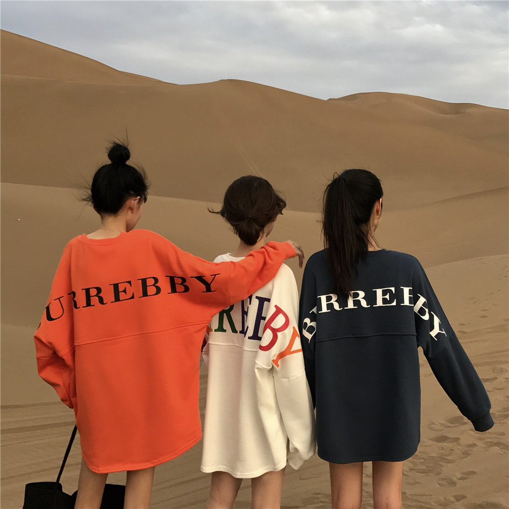 O-Neck Letter Printing Harajuku Hoodies Sweatshirts Women Hip Hop Casual Pullover Streetwear 2019 Women Hoodies Fashion Tops