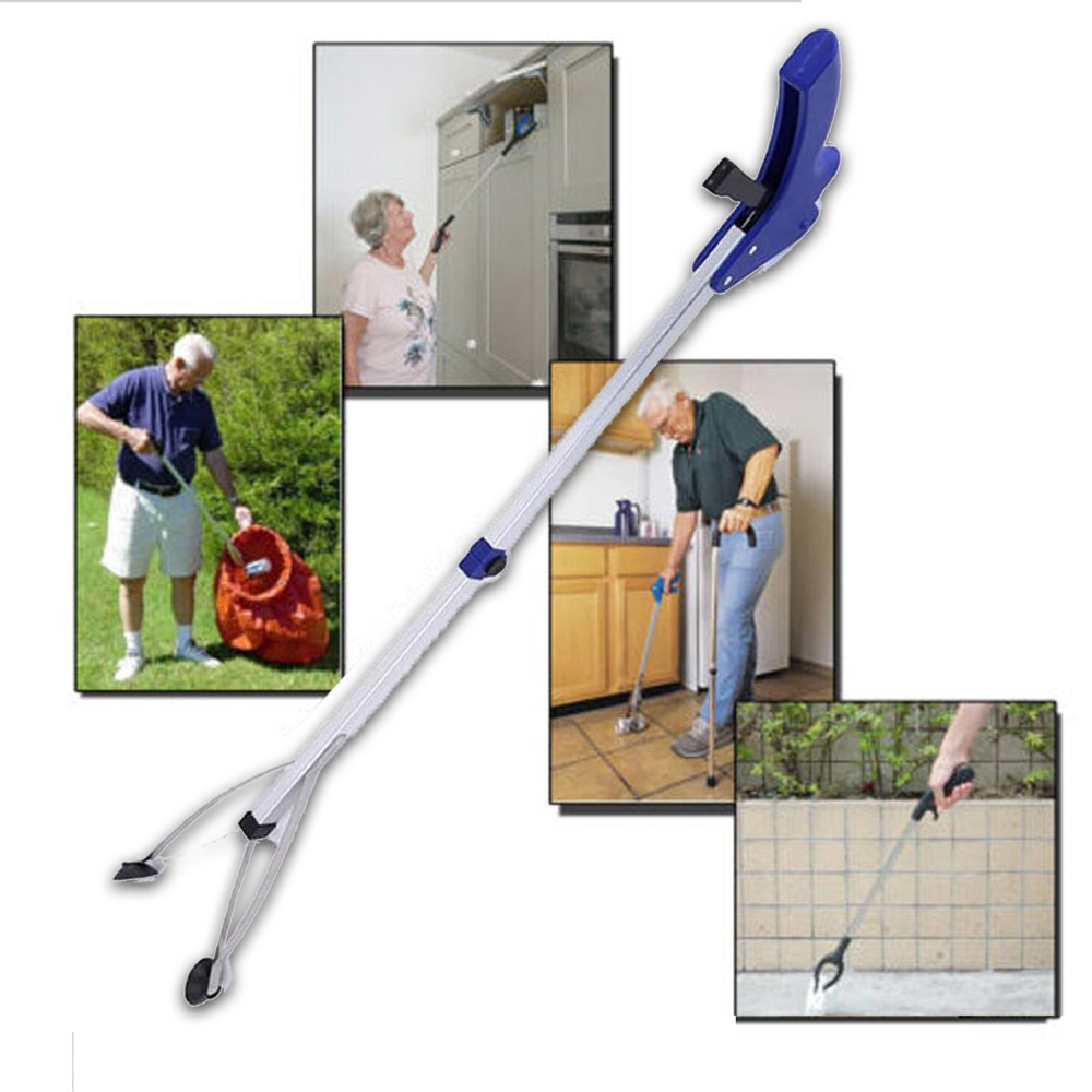 Practical Extra Long Arm Extension Reacher Grabber Easy Reach Pick Up Tool Foldable Garbage Trash Clip Clamp Tongs Reputation First