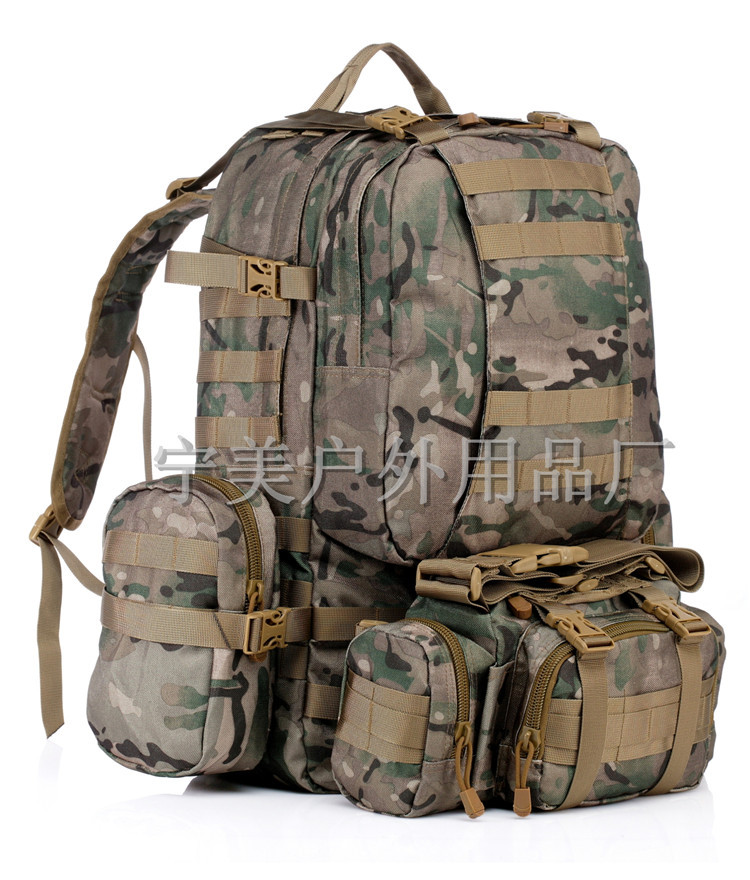 Combination Backpack Outdoor Backpack Mountaineering Bag 50L Waterproof Army Fans Camouflage Tactical Combination Tactical Backp