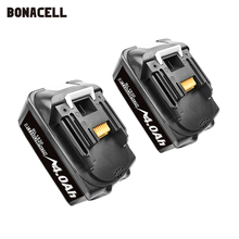 Набор сменных литиевых батарей Bonacell 18 в 4000 мАч BL1830 для дрели Makita LXT400 194205 3 194309 1 BL1815 BL1840 BL1850 L30