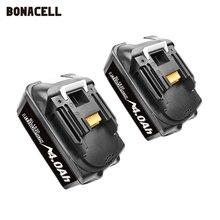 Bonacell 18V 4000mAh BL1830 الليثيوم حزمة بطارية استبدال ل ماكيتا الحفر LXT400 194205 3 194309 1 BL1815 BL1840 BL1850 L30