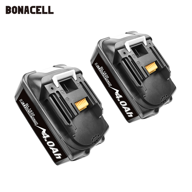 Bonacell 18V 4000mAh BL1830 Lithium Battery Pack Replacement for Makita Drill LXT400 194205 3 194309 1 BL1815 BL1840 BL1850 L30