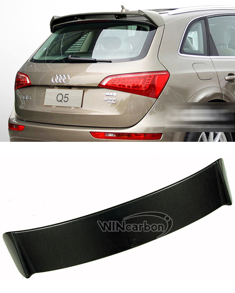 A Style Real Carbon Fiber Rear Roof Spoiler For Audi Q5 2008 2013 Spoilers Wings Aliexpress
