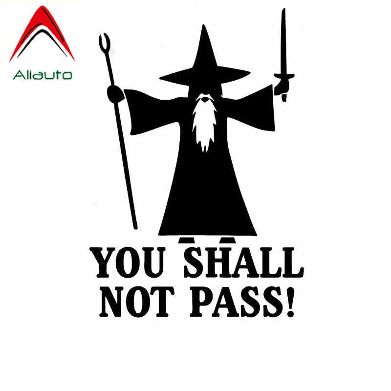 Aliauto Cartoon Auto Sticker Zal Je Niet Pass Anti Road Rage Gandolf Automobiles Motorfietsen Decoratie Vinyl Sticker, 15 Cm * 11 Cm