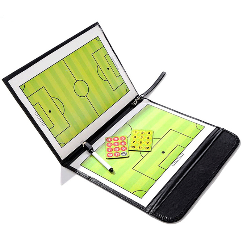 Tactical Clipboard Teenage Football Soccer Team Training Assistant Equipment Portable Convenient Foldable Soccer Tactical Board