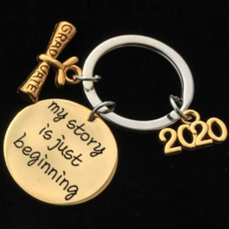ססגוניות מתנת סיום Keychain חקוק שלי סיפור הוא רק מתחיל ברמה של 2020 Stainsteel פלדה תכשיטי חברים מתנה