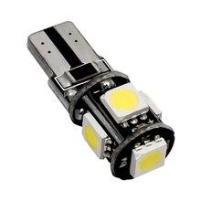 500pcs T10 5 SMD 5050 LED Canbus Error Free Car Luce W5W 194 5SMD Auto Cuneo Coda Laterale Della Lampadina lampada da lettura Bianco Blu Rosso 500X