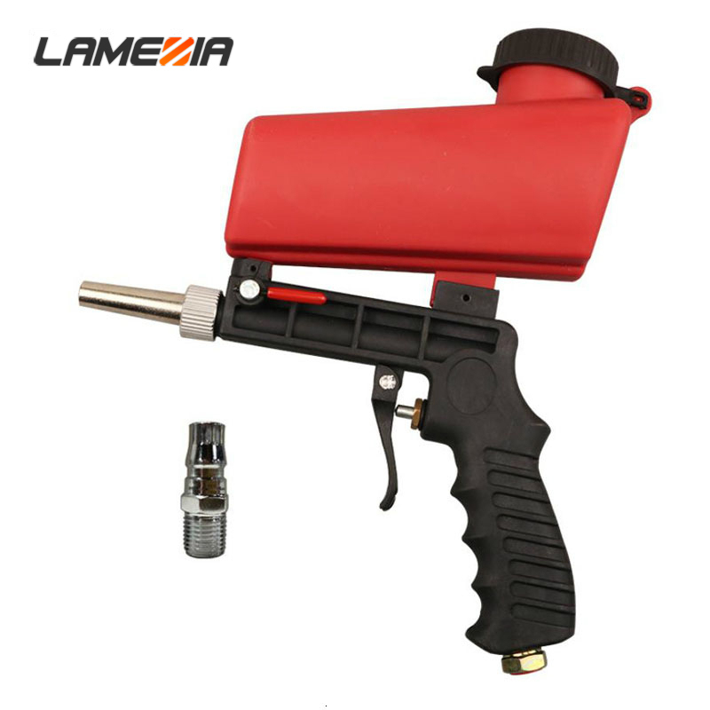 LAMEZIA 90psi Portable Gravity Sandblasting Pneumatic Gun Small Sand Blasting Machine Adjustable Set Spray Tool|Spray Guns| |  - title=