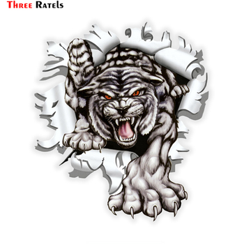 three ratels tz 1950 14x19cm respect for bikers car sticker funny stickers styling removable decal Three Ratels LCS271# 15x17.1cm Tiger in the bullet hole  colorful car sticker funny  stickers styling removable decal