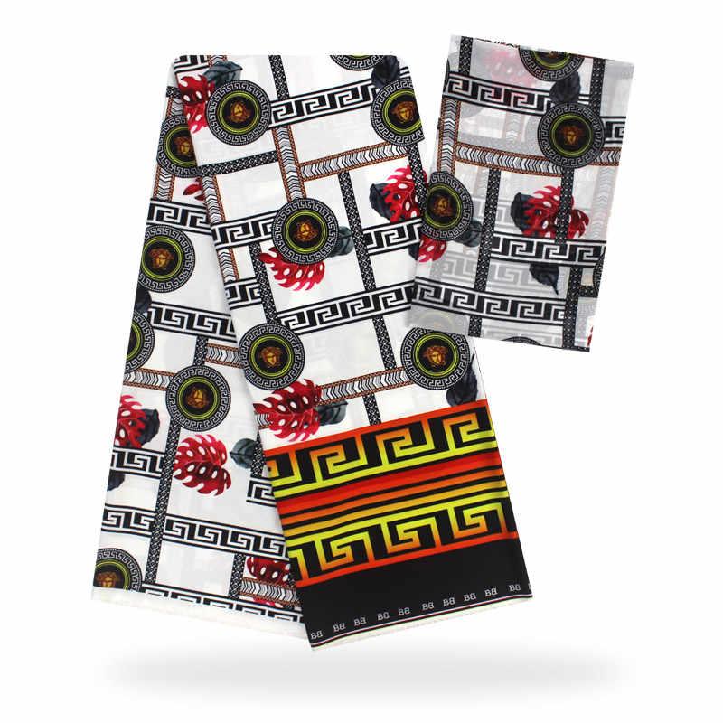 Модальные эластичные атласная шёлковая ткань Африканская мягкая восковая ткань с принтом 2 ярда шифон 4 ярда audel modell ИМИТИРОВАННАЯ ткань Анкара 081602