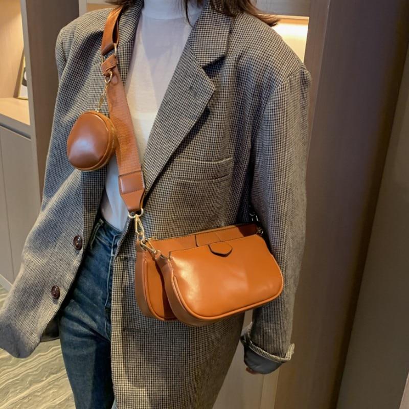 Womens PU Leather Cell Phone Shoulder Bag Zipper Purse Wristlet Bag Tote