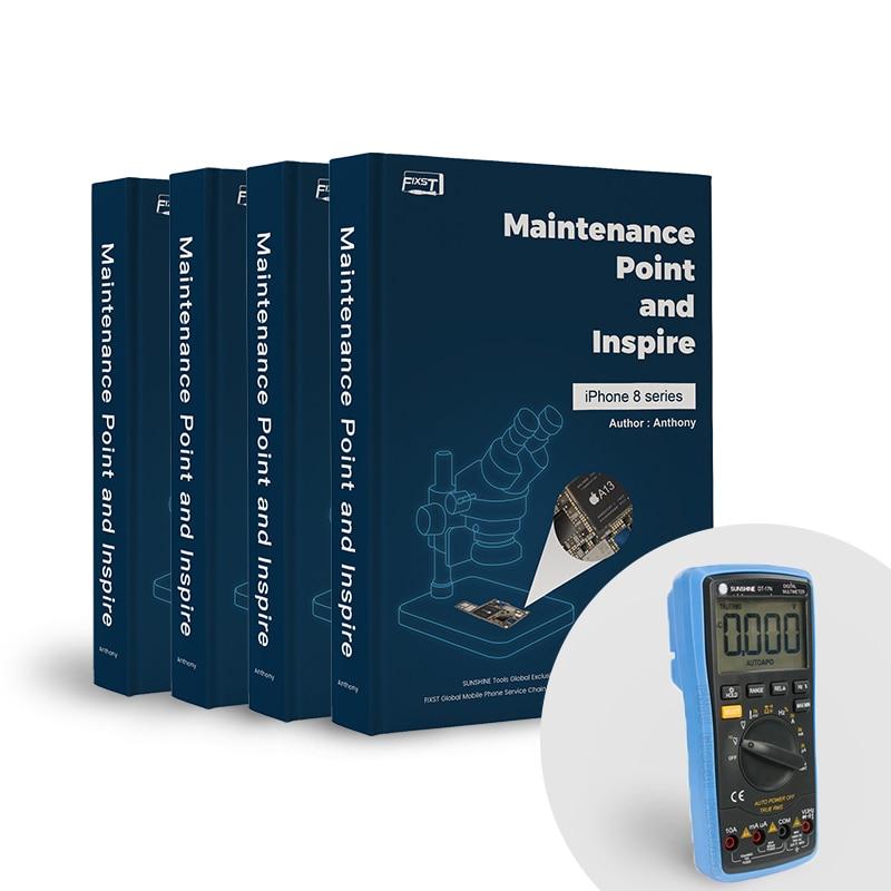 FIXST i8 / 8P / X / Xs max repair book / DT-17N automatic multimeter (B)