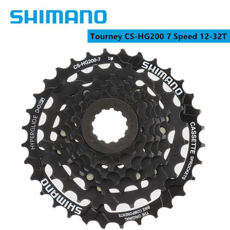 Горных велосипедов Shimano турнир HG200 7 Скорость 12-28 т/12-32T кассеты CS-HG200-7 для MTB горный велосипед устойчив к коррозии поверхность лечения