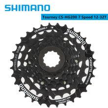Shimano Tourney-CS-HG200-7 de Cassette para bicicleta de montaña, 7 velocidades, 12-28T/12-32T, resistente a la corrosión, tratamiento de superficie, HG200