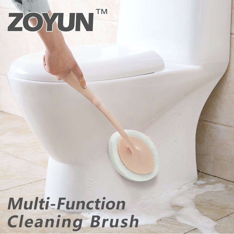 Multifunction Cleaning Brush Sponge Home Kitchen Supplies Long Handle Ceramic Tile Wall Floor Scouring Pad Bathroom Bathtub