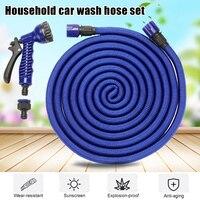 Conjunto de ferramentas de lavagem do carro do agregado familiar bocal mangueira telescópica conjunto multifunções ferramenta rega jardim mjj88
