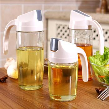 Leakproof Olive Oil Vinegar Dispenser Bottle Automatic Cap Kitchen Spice Storage Jar Tools New Kitchen accessories image