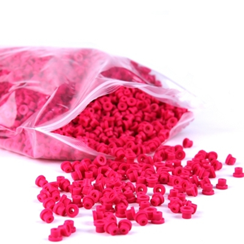 100pcs/bag Top Quality Pink Silicone Soft Rubber Grommets Nipples For Tattoo Machine Needles Supply -- TMP-60