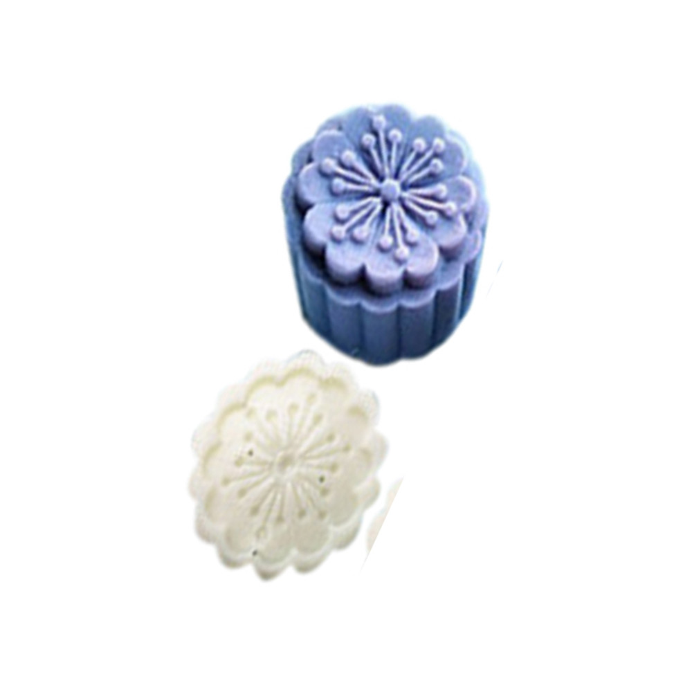 4Style Stamps 50g Round Flower Moon Cake Mold Mould Mooncake Set Decor New N3A7