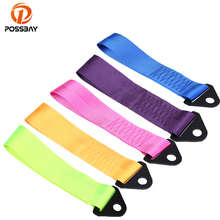 POSSBAY  Racing Car Styling Tow Straps Nylon High Strength Universal Tow Ropes Black/Red/Deep Blue/Purple/Rose Red/Yellow/Green