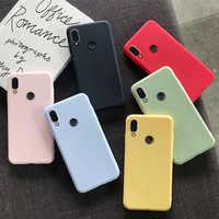 Bonita funda de TPU para Xiaomi Redmi Note 7 8 8A 7A 6 6A 5 5A 4 4X K20 Pro Plus 4A Go funda de silicona suave y delgada colorida