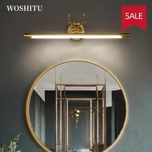 Modern LED Mirror Light for Washroom Makeup Vanity Cabinet Black/Gold Antlers Bathroom Amenities Decor Wall Lamp Indoor Lighting