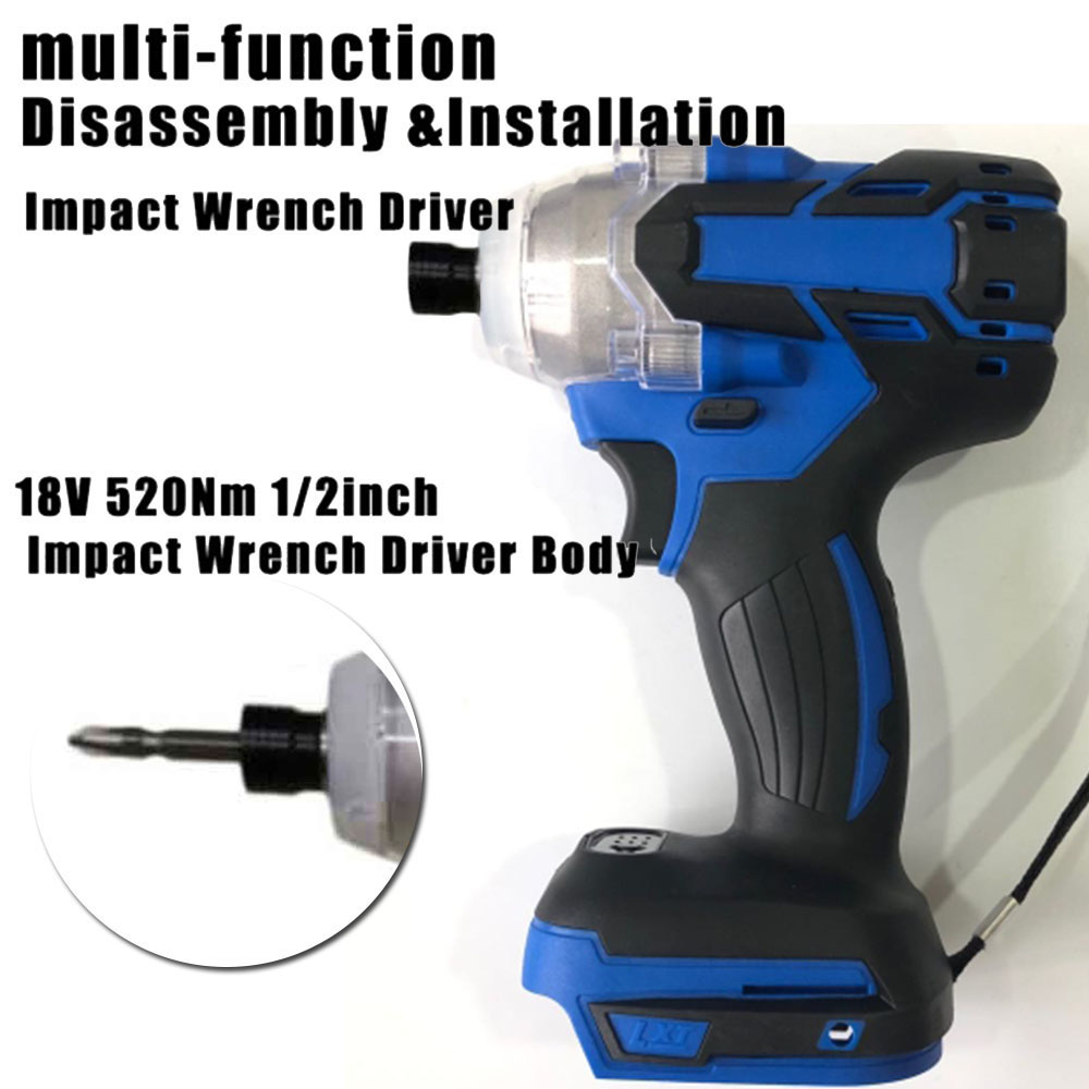 18V 520N 1/2in Cordless Impact Wrench Driver Body No Battery For Makita DTW285Z 2700 RPM Power Tools Impact Driver electric tool