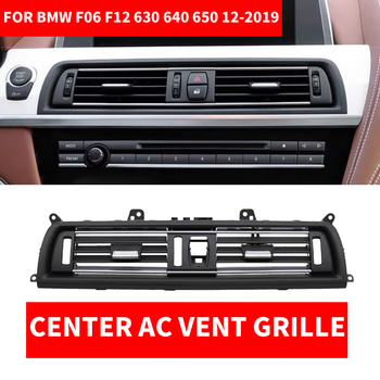 Car Front Row Console Central Middle AC Air Conditioner Vent Grille Outlet Panel Chrome Plate For BMW 6-series F06 F12 630 640