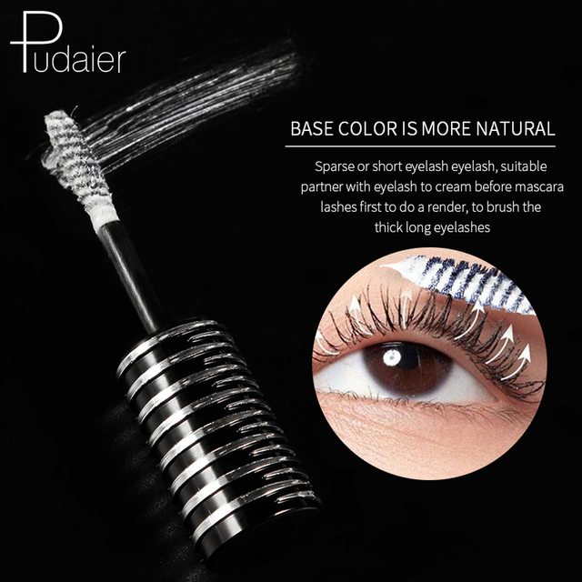 Pudaier 1PC Perfect Primer Lashes Mascara Partner Eye Lash Base Makeup Cosmetic White Fiber Eyelash Cream for Natural Big Eyes 3