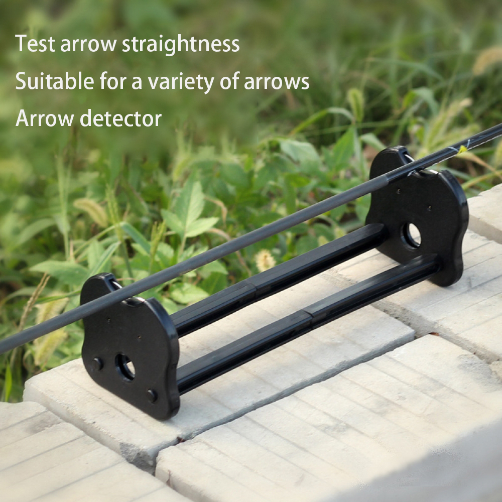 1pc Arrow Straightness Detector ABS Material Arrow Feathers Check Arrowhead Balance Inspector For Shooting Archery Accessories