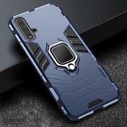 For Huawei Nova 5T 5 T Cover Armor PC Cover Finger Ring Holder Phone Case For Nova 5T Cover Shockproof Reinforced Bumper Shell