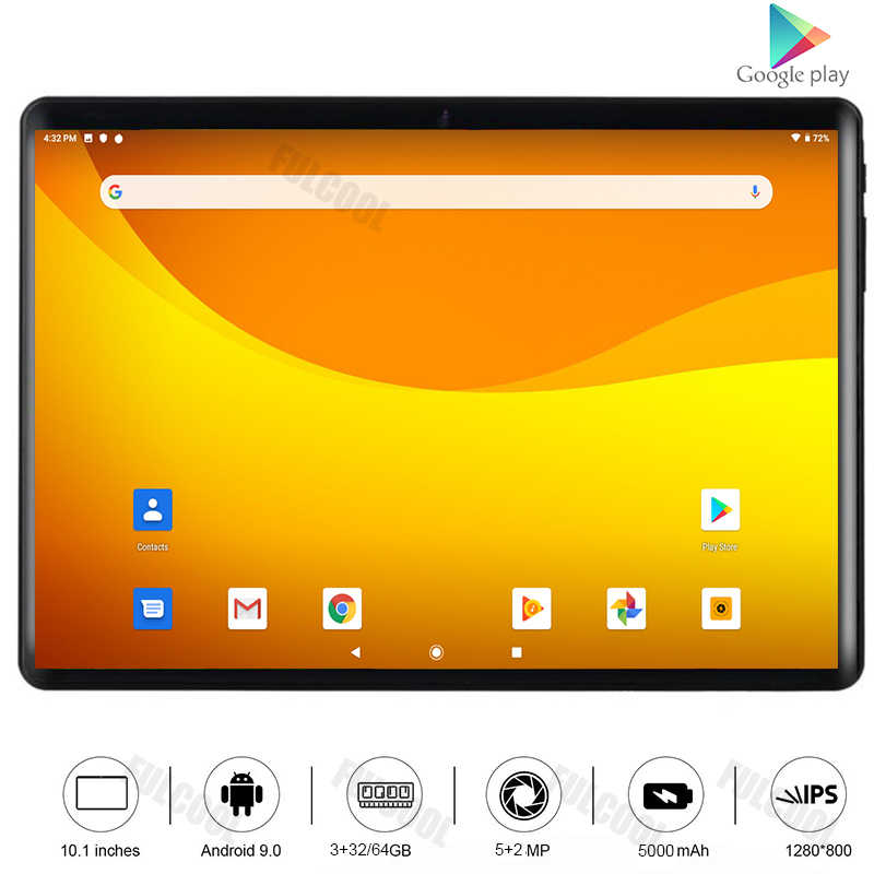 2020 globale Version 10 zoll tablet 3 + 32GB Speicher 4G LTE Typ-C Tabletten Dual SIM karte Wifi Android 9,0 tablet 10.1 + 64GB TF Karte