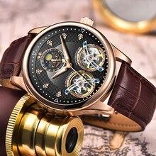 Reloj LIGE Men Watch Mechanical Tourbill