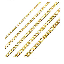1 stuk 8-30 Inches Gold Figaro Ketting Ketting 3-7.5MM Rvs Figaro Link Chain voor mannen Vrouwen(China)