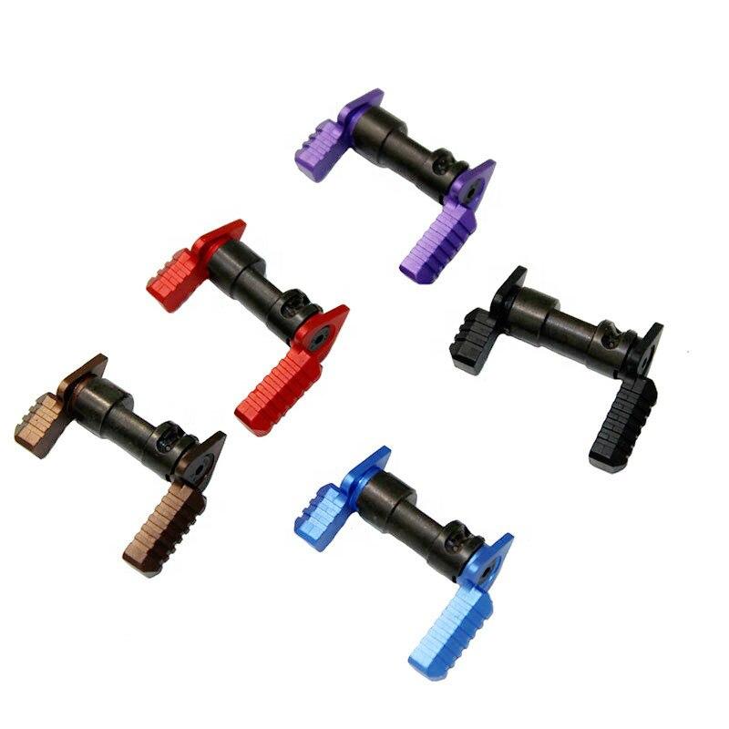 Magorui taktik. 223 5.56 Ambidextrous güvenlik seçici anahtarı Mil-Spec çelik AR15 aksesuarları tüfek tabanca anahtarı