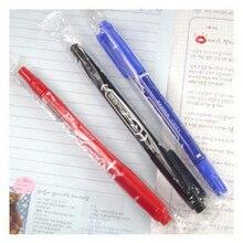Двойные головки маркерные ручки DIY лайнер для макияжа ручка маркер для CD тонкая точка черный, синий, красные чернила маслянистая ручка для студентов офисные принадлежности